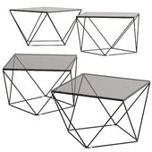 Heroine Glass Coffee Table by NV Gallery