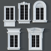 Windows in the style of modern classics 01