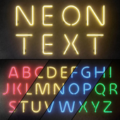 Light modules. Set 10. Neon Alphabet