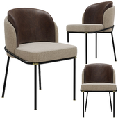 Minotti fil noir dining chair