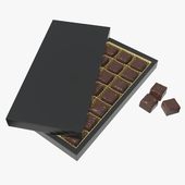 Blank sweets package with chocolate candy mock up