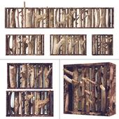 Декор вешалка из дров / Log hanger decor