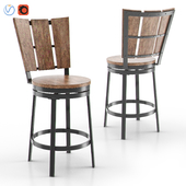 Metal & Timber Swivel Stool - 002