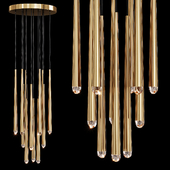 Restoration Hardware AQUITAINE ROUND CHANDELIER 18 Brass