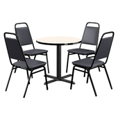 Square Breakroom Table and Chair Set