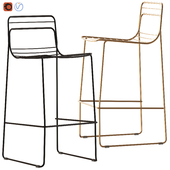 Bright Side Furniture Grid Steel Barstool