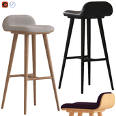 Oslo Home Venice and Black Capa Barstools