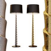 Casano nickel & brass patina floor lamp