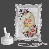 Giftgarden 4x6 Rustic Picture Frame Rose Decor Set