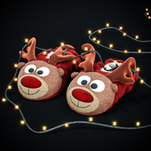 "New Year's slippers ""Deer of Santa Claus"""