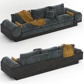 1960s Grand Bolster Sofa