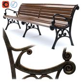 Парковая скамейка 03