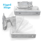 Hinge for appliances - rigged