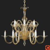 Murano Amber Glass Chandelier