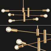 Three tier brushed bronze metal ceiling fixture