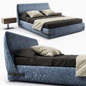Tape bed by Novamobili - Wai bedside table by Bonaldo