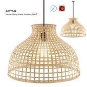 GOTTORP Pendant Lamp Shade, Bamboo, Ikea