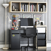 ikea micke student workplace set