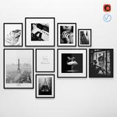 Frames Photo Modern Set 1 - Black and white