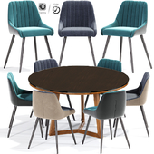 Amos Dining Chair And Table