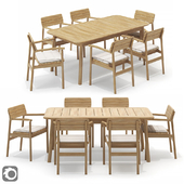 Case Tanso Armchair and Rectangular Table