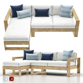 Portside Outdoor 2-Piece Chaise