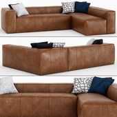 Article_Brown Right Arm Corner Sectional Sofa