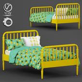 Jenny Lind Teal Bed