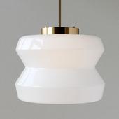 Century Milk Glass Pendant Light