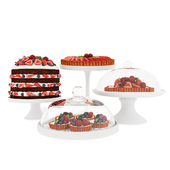 Fruit berry cake collection