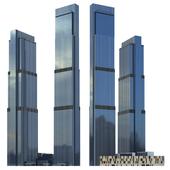 Небоскреб Башни Нева (Neva Towers, Moscow-city).
