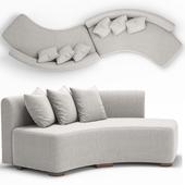 Adriana Hoyos Galapagos Curved Sofa 300