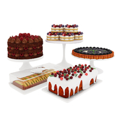 Fruit berry cake collection 2