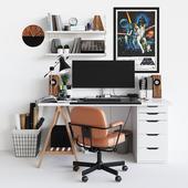 Workplace set with decor. Sk_1 (перезаливка)