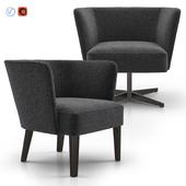 Velour Lounge Armchair