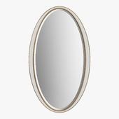 John Richard - White oval frames mirror