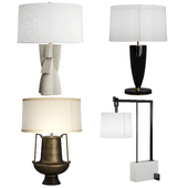 Arteriors 4 table lamps