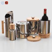 West Elm Nickel + Wood Barware V2