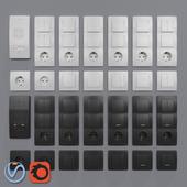 Розетки и выключатели Schneider Electric Blanca внутреннего монтажа