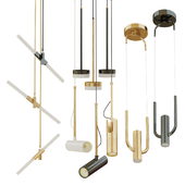 Set of suspended lamps five