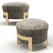 Cosmo Ottoman with metal legs