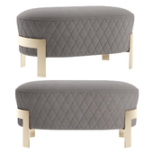 Cosmo Ottoman with metal legs 2