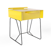 Mello Sled End Table with Storage