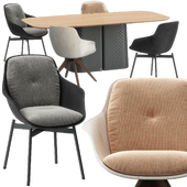 Rolf Benz 600 chair, 929 table