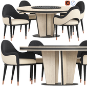 Sesto Senso Cprn Homood Table and Chair