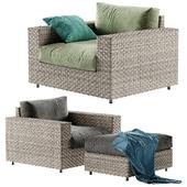 West Elm Urban armchair