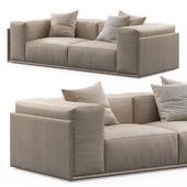 Roland 2-seat Leather Sofa by Doimo Salotti