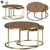 Mars Nesting Wood Coffee Table Set