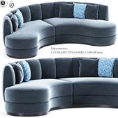 Modern Sophia Curved Sofa