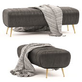 Bench Souffle-ruched leather